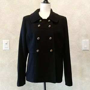 Milton Military Wool Pea Coat Sz L EUC